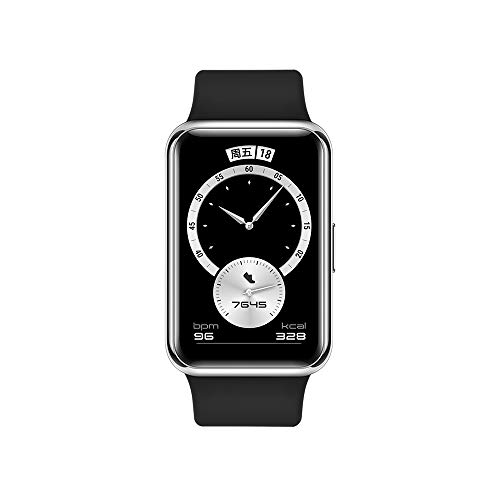 HUAWEI Watch FIT Elegant Edition Smartwatch mit Metallgehäuse, 4,6 cm (1,64 Zoll) AMOLED-Display, bis zu 10 Tage Akkulaufzeit, 96 Trainingsmodi, eingebautes GPS, 5 ATM, schwarz