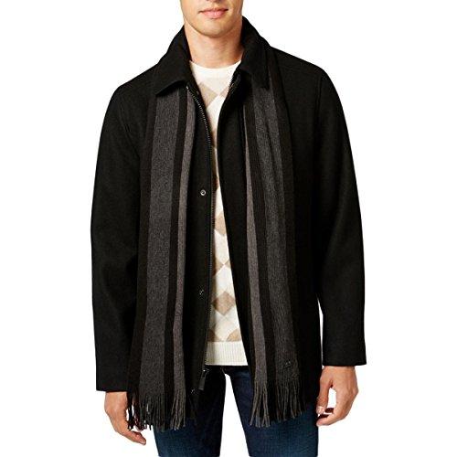 Calvin Klein Men's Wool Scarf Coat
