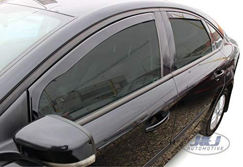J&J AUTOMOTIVE | Deflecteurs d'air Déflecteurs de Vent Compatible avec Mondeo IV 4/5 Portes Limousine 2007-2014 4pcs