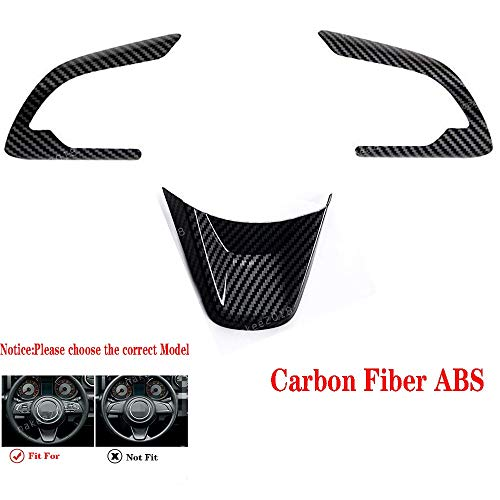 Carbon Fiber ABS Inner Steering Wheel Cover Trim Fit for Suzuki Jimny 2019 2020