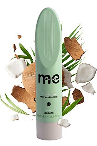 MeMademoiselle Haar-Shampoo für trockene Kopfhaut | Das vegane Eco Haarshampoo für sensible Kopfhaut ohne Silikone und Parabene | Shampoo für Damen und Herren (250ml)