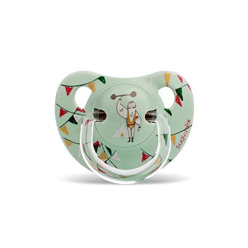 Suavinex - Chupete Tetina Anatómica Látex. Chupete 6-18 Meses. 0% BPA, Diseño Le Cirque Color Verde