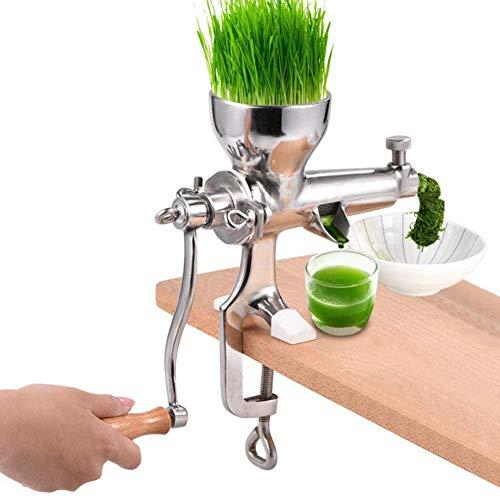 GzxLaY Weizengras-Entsafter, Edelstahl-Weizengras-Handbuch Gesundheitssaft-Extraktionswerkzeug Mastizier-Entsafter, DIY-Küchenwerkzeug für Weichobstgemüse-Blattgemüse