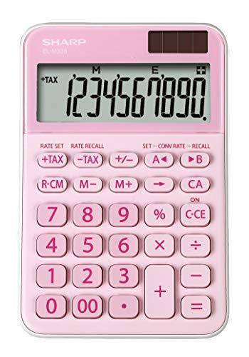 Sharp EL-M 335 rekenmachine met afgeschuinde weergave (op zonne-energie) roze