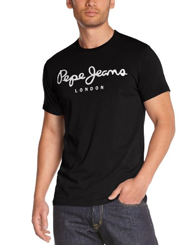 Pepe Jeans Original Stretch Camiseta, Negro (Black 999), Small para Hombre