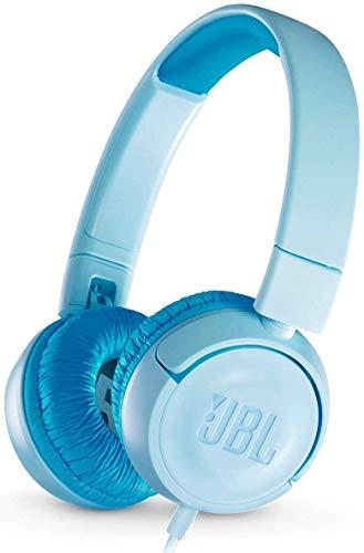 JBL JR300 Cuffie per Bambini con Limitazione del Volume, Cuffie On-Ear Aperte Pieghevoli, Sicure e Portatili, Design Leggero e Compatto Progettato per i Bambini, Blu