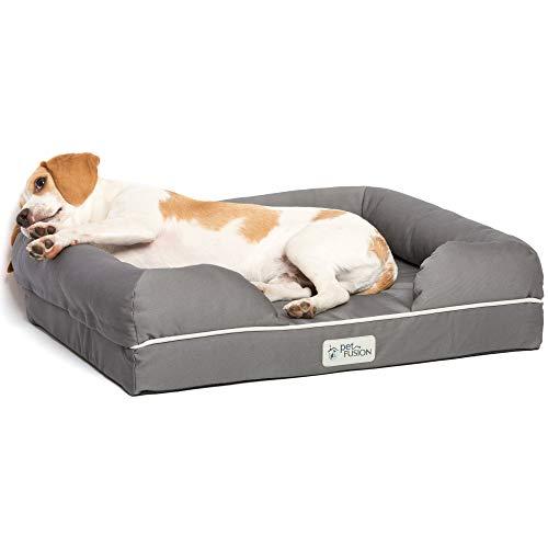 """Cama de espuma viscoelástica para perros y gatos pequeños, Gris( Slate Grey- Small Bed), 25x20x5.5"""""""