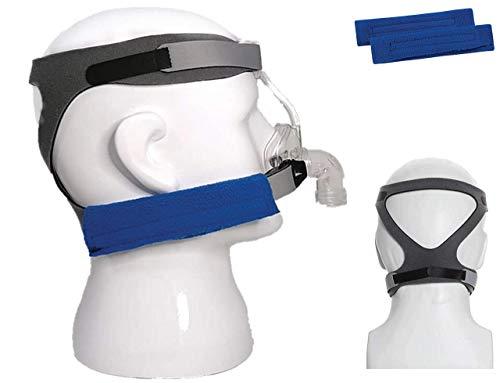 BALIBETOV Forniture CPAP - Sostituzione della cinghia per copricapo universale Cpap e imbottiture comfort per e varie maschere Cpap ultraleggere morbide e traspiranti. (Maschera non inclusa) (Grigio)