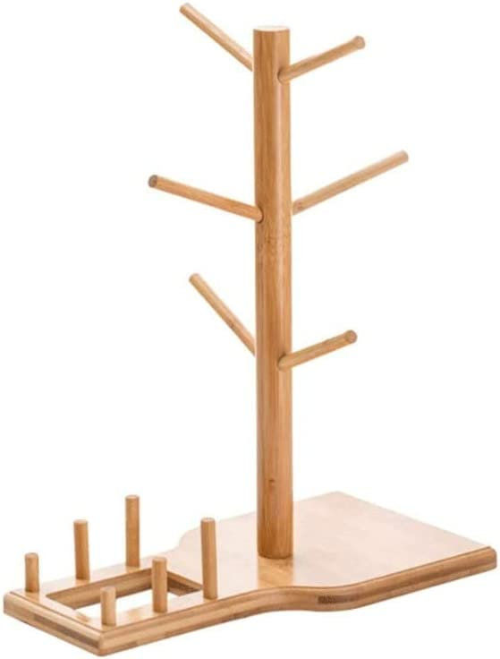 RERKANG Mug outlet Holder Wooden Cup Rack with 6 Storage - Memphis Mall Drying