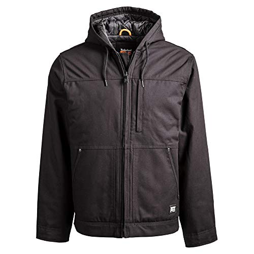 Timberland PRO Men's A1HVE Baluster Insulated Hooded Jacket - X-Large Tall - Jet Black