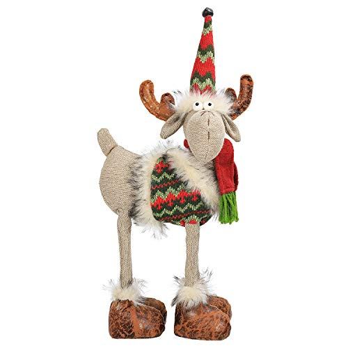 N&T NIETING Christmas Reindeer, 40cm Handmade Reindeer Deer Toy for Xmas Ornaments Holiday Decorations