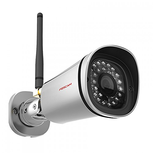 Foscam FI9800P - Cámara IP de vigilancia para Exterior, función p2p, 1 MP, 720p, WiFi, h264, Seguridad para el hogar