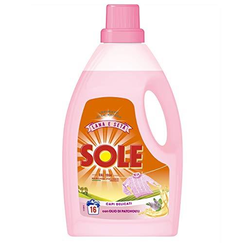 12 x SOLE Mano&Lavatrice Liquido Lana Classico 16 Lavaggi 1000 Ml