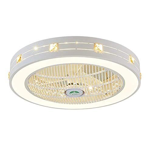 N / A Ventilador de Techo Moderna con Mando a Distancia 40W LED Ventilador de Techo Hijos mudos Techo de la Sala del salón Creativo de la lámpara LED de Intensidad Regulable Iluminación d.