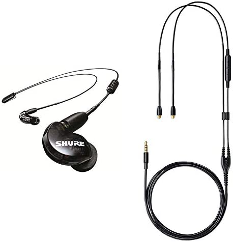 Shure SE215 BT2 Wireless Sound Isolating Earbuds Black RMCE UNI Universal Communication Cable product image