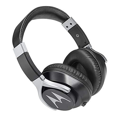 Motorola Pulse 200 Bass Over-Ear Stereo Headphone Extra Bass & Alexa (White)