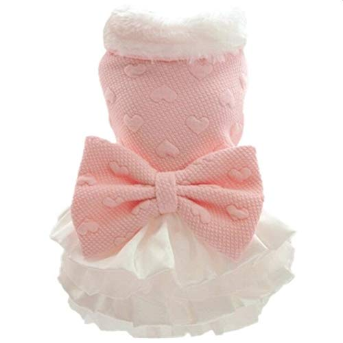 LINDANIG Hunde-Bekleidung for kleine Hunde Chihuahua Yorkies Mops-Kleidung Mantel-Winter-Hunde-Kleidung Haustier-Welpen-Jacke Hund Kleid rosa XXS-XL (Farbe : Rosa, Size : L)