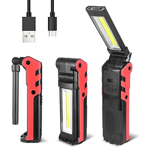 Lámpara de Inspección,lámpara de inspección COB portátil,para reparación de coche, taller, garaje, camping, iluminación de emergencia