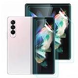 Renn 3 Stück Kompatibel mit Samsung Galaxy Z Fold 3 5G Bildschirmschutzfolie Zubehör, Fingerabdruckerkennung auf dem Display, Hochwertiger Anti-Bubble Bildschirmschutz für Samsung Z Fold 3 Transparent