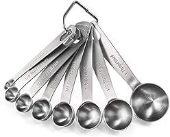 Measuring Spoons: U-Taste 18/8 Stainless Steel Measuring Spoons Set of 8 Piece: 1/8 tsp, 1/4 tsp, 1/3 tsp, 1/2 tsp, 3/4...