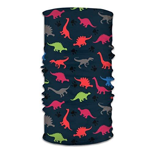 Pañales para niños de dinosaurio abstracto de colores para niños y niñas, para cubrir la cabeza, el sol, bufanda mágica, pañuelo, pasamontañas, cinta para la pesca, motociclismo, correr, monopatín, absorción de la humedad UV