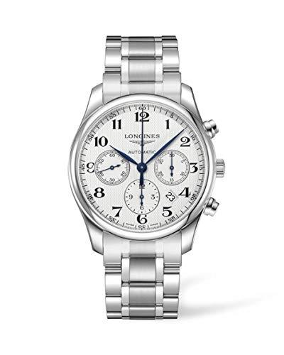 Longines orologio The Longines Master Collection Cronograph 42mm Argento automatico Acciaio L2.759.4.78.6