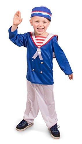 Folat 63271–Disfraz Marineros, 3Piezas, niños tamaño m