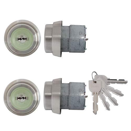 LIXIL(リクシル) TOSTEM ドア錠セット(MIWA URシリンダー) ヘアーライン N2EZ0021