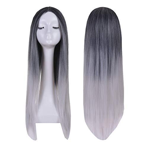WANGXUAN Golden Perruques Longues ondulées Cendres Blonde Perruques pour Les Femmes,Grey