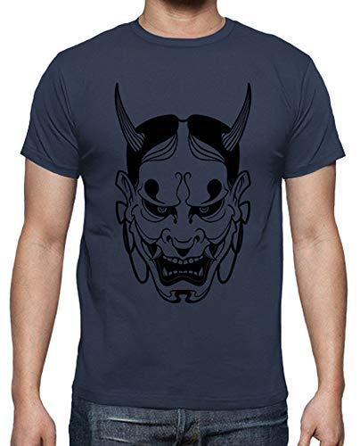 latostadora - Camiseta Mascara de Hannya para Hombre Denim S