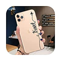Wvnkx World Map Travel Just Go Soft TPU Phone case for iPhone 11 Pro XS Max X XR 7 8 Plus 6S plane Cover for iPhone 12 Pro Max Coque-T9362-for iPhone 11