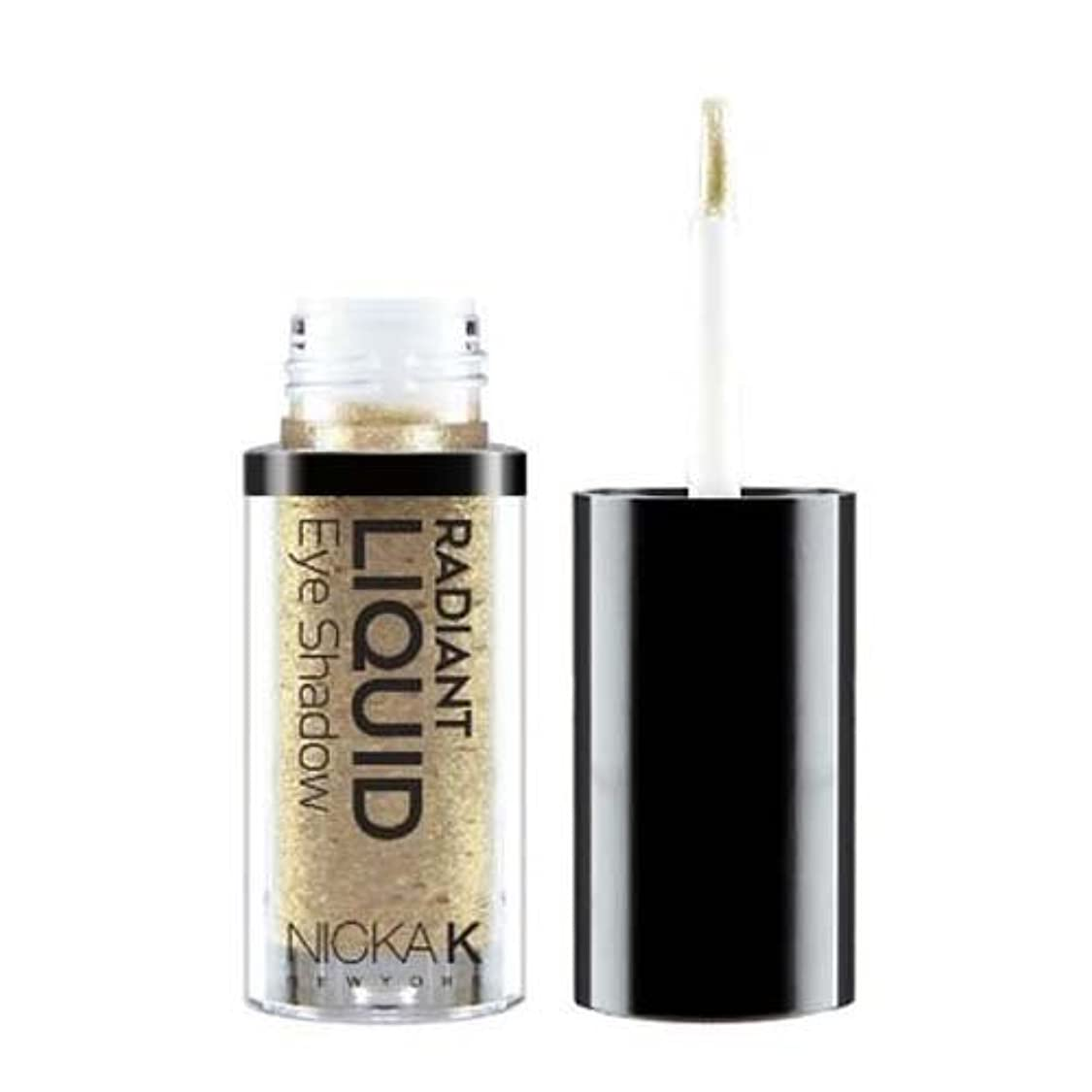 ケント応答山積みの(3 Pack) NICKA K Radiant Liquid Eye Shadow - Ochroid Titan (並行輸入品)