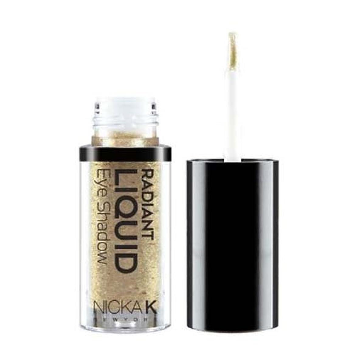 背が高い褒賞流用する(6 Pack) NICKA K Radiant Liquid Eye Shadow - Ochroid Titan (並行輸入品)