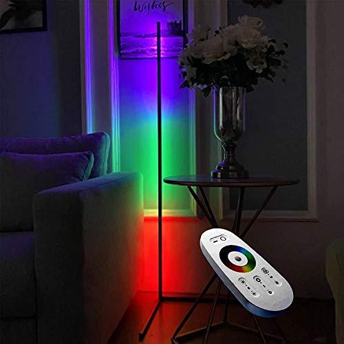 Lampara de pie ,RGB Regulable lampara de pie Esquina De La Lámpara De Pie LED De RGB Nordic | 55 Pulgadas Dimmable RGB Colorida Luz De Pie, Usada En La Sala De Estar De La Sala De Niños Decoración Atm