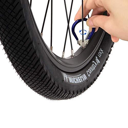 SUNANFBEST Speichenspanner, Nippelspanner Spanschlüssel mit Reifenheber Speichenschlüssel Fahrradwerkzeuge für Speichen Größe 10-15 Fahrrad reparieren - 6