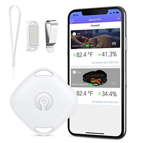 【Neu】ORIA Bluetooth Thermometer Hygrometer, Kabelloses Hygrometer Mini Temperatursensor, mit Daten Export-funktion, kompatibel mit ios und Android für Wein, Wohnzimmer, Babyzimmer