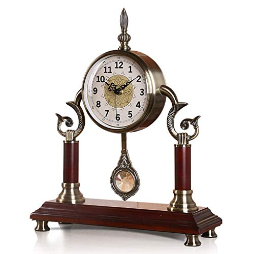 Dxbqm Soporte de Reloj Reloj de Mesa Reloj Europeo de Metal/Ideal para Cocina, Dormitorio, Sala de Estar u Oficina/Colóquelo en un Estante, Mesa o Escritorio/Idea de Regalo para niños o adul