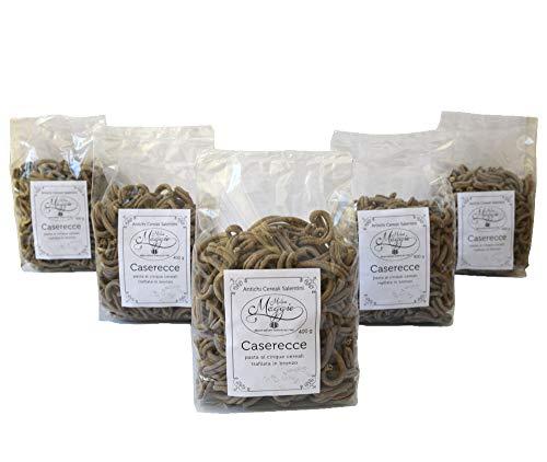 5 Packungen Caserecce-Nudeln Fünf Müsli-Nudeln Bronze-Nudeln mit italienischen Weizennudeln mit gemahlenem Steinmehl