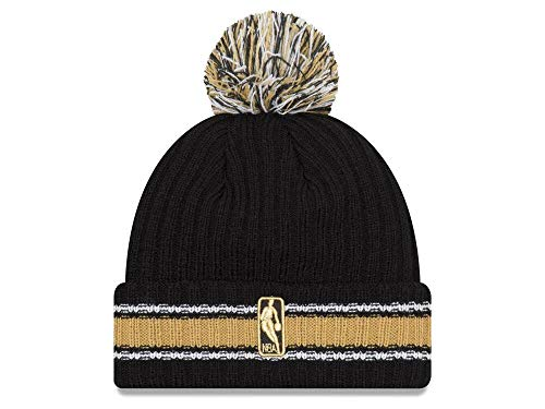 New Era Toronto Raptors Chunky Cuff Beanie Hat with Pom Pom - NBA Cuffed Winter Knit Baskteball Cap