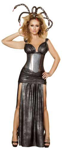 Roma Costume 4 Piece Sexy Medusa As Shown, Grey, Large
