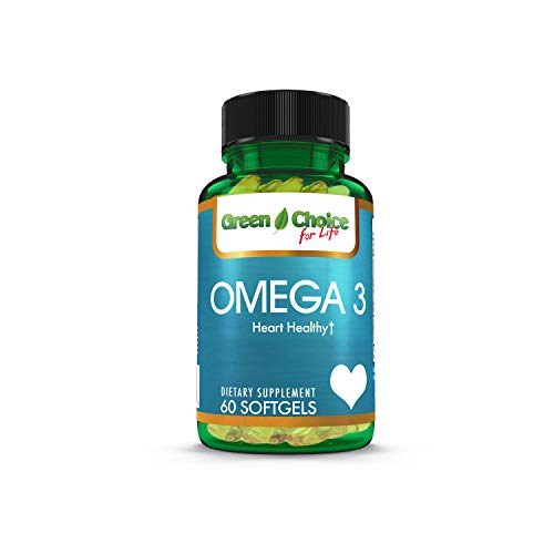 Green Choice Omega 3 Fish Oil, 1200 mg, 60 Rapid Release Softgels, Dietary Supplement- for Supporting Cardiovascular…