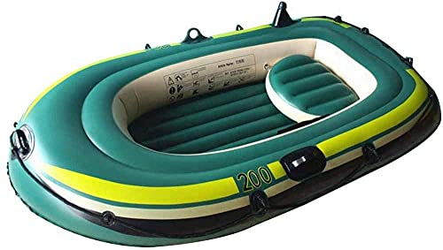 WBJLG Inflatable Kayak,2/3-Person Inflatable Boat, Inflatable Kayak Canoe,for Outdoor Drifting Fishing Traveling,3-Person Boat