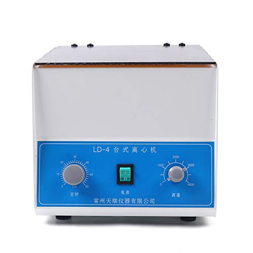 LD-4 Electric Lab Benchtop Centrifuge, 4000RPM 4 Tubes x 100ml Centrifuge Machine with Timer and Speed Control for Lab