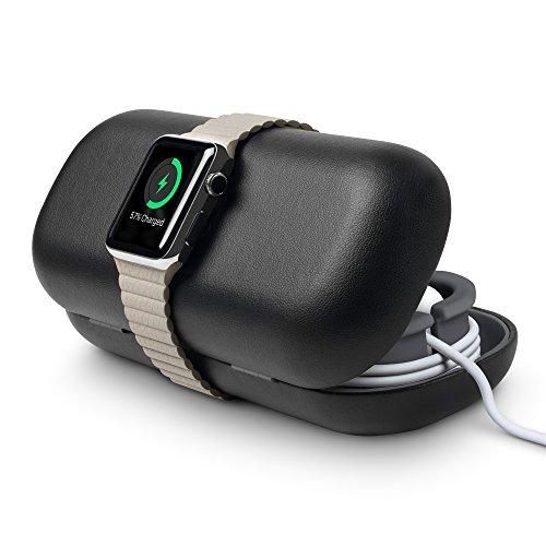 Twelve South TimePorter für Apple Watch, Apple Watch Zubehör Reisetasche + Ladestation für den Nachttisch (schwarz)