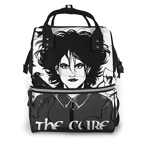 Robert Smith The Cure Goth 80s Pop Rock Punk Music Diaper Bag Mommy Backpack Multifunctional Large Capacity Diaper Bag Baby Travel Care Bag