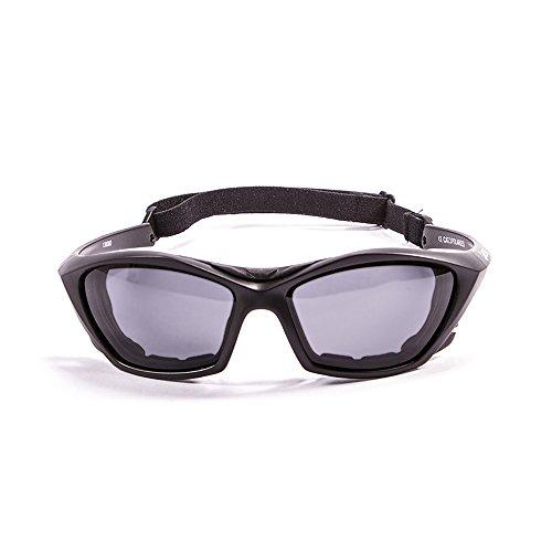 Ocean Sunglasses Lake Garda - Gafas de Sol polarizadas - Montura : Negro Mate - Lentes : Ahumadas (13000.0)