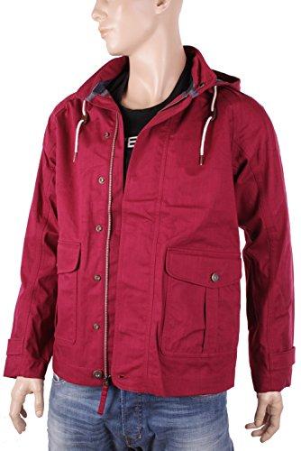 Timberland Chaqueta De Hombre Mount Pierce Chaqueta Impermeable (Medium, Rojo)