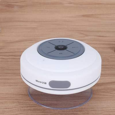 Wowlela Bluetooth Duschradio, Saugnapf, IPX4 Wasserdicht Wireless FM Radio Lautsprcher mit Mikrofon für Outdoor, Dusche