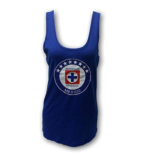 Cruz Azul FC Soccer Team Women's Ladies Tank Top Muscle Shirt (1X Regular)