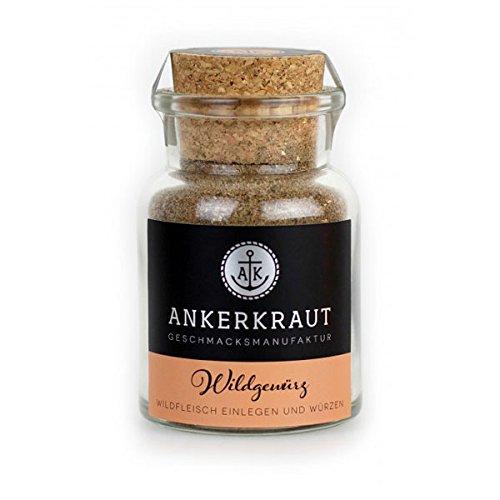 Ankerkraut Wildgewürz, BBQ-Rub für Wild, für den Ofen, Grill, Smoker und Dutch Oven, 75g im Korkenglas